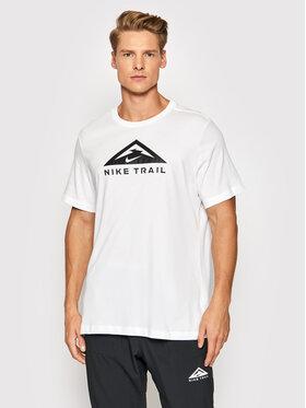 Nike Nike Тишърт Trail CZ9802 Бял Standard Fit