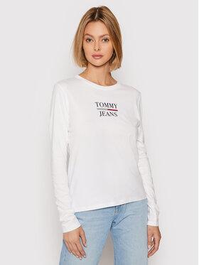 Tommy Jeans Tommy Jeans Bluză Essential DW0DW10406 Alb Slim Fit
