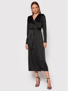 TWINSET TWINSET Коктейлна рокля 212TT2411 Черен Regular Fit