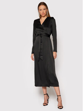 TWINSET TWINSET Koktejlové šaty 212TT2411 Černá Regular Fit