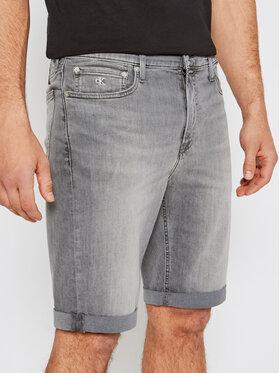 Calvin Klein Jeans Calvin Klein Jeans Pantaloni scurți de blugi J30J317741 Gri Slim Fit