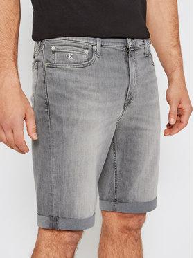 Calvin Klein Jeans Calvin Klein Jeans Szorty jeansowe J30J317741 Szary Slim Fit