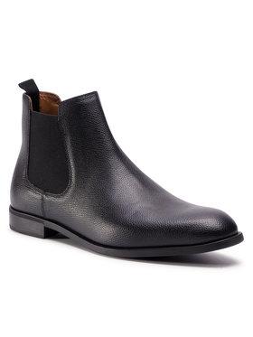 Emporio Armani Emporio Armani Členková obuv s elastickým prvkom X4M340 XF489 00002 Čierna