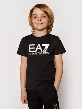 EA7 Emporio Armani EA7 Emporio Armani T-shirt 3KBT53 BJ02Z 1200 Crna Regular Fit