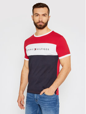 Tommy Hilfiger Tommy Hilfiger Marškinėliai Logo Flag UM0UM01170 Spalvota Regular Fit