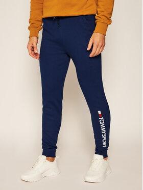 Tommy Sport Tommy Sport Teplákové kalhoty Cuff Fleece S20S200359 Tmavomodrá Regular Fit