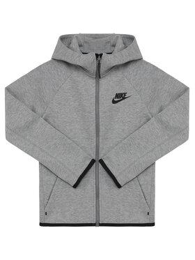 Nike Nike Mikina Nsw Tech Junior AR4020 Šedá Standard Fit