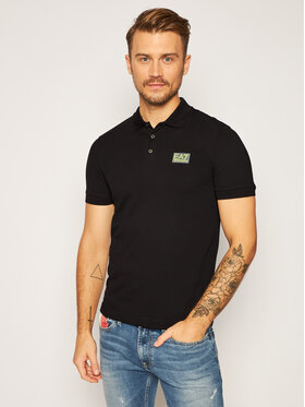 EA7 Emporio Armani EA7 Emporio Armani Polo 6HPF01 PJ04Z 1200 Μαύρο Regular Fit