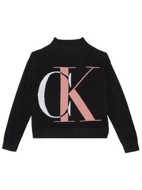 Calvin Klein Jeans Calvin Klein Jeans Sweter Oco Exploded Monogram IG0IG00678 Czarny Regular Fit
