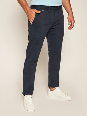 Tommy Jeans Tommy Jeans Bavlnené nohavice Tjm Original DM0DM04398 Tmavomodrá Slim Fit