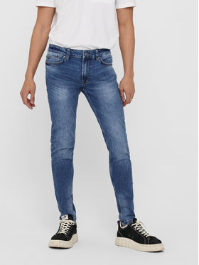Only & Sons ONLY & SONS Дънки Warp 22018256 Тъмносин Skinny Fit