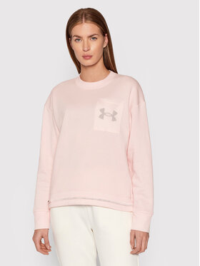 Under Armour Under Armour Bluza Ua RIval Fleece Logo 1365847 Różowy Loose Fit