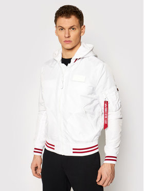 Alpha Industries Alpha Industries Μπόμπερ μπουφάν Ma-1 Tt 126108 Λευκό Regular Fit