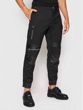 Les Hommes Les Hommes Bavlnené nohavice LLP205321B Čierna Regular Fit