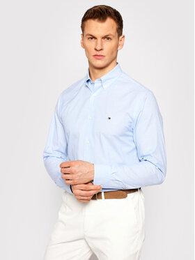Tommy Hilfiger Tommy Hilfiger Koszula Natural Soft Poplin MW0MW18339 Niebieski Regular Fit