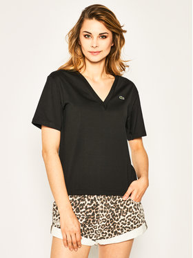 Lacoste Lacoste T-Shirt TF5458 Czarny Regular Fit