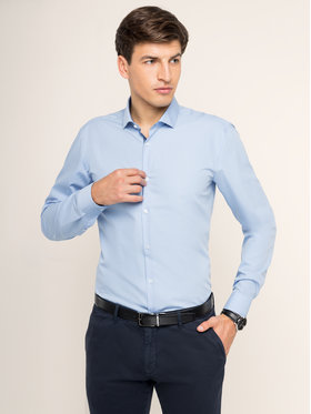 Hugo Hugo Marškiniai 50415270 Mėlyna Extra Slim Fit