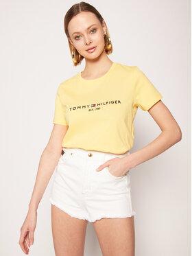 Tommy Hilfiger Tommy Hilfiger T-Shirt New Ess WW0WW26868 Κίτρινο Regular Fit
