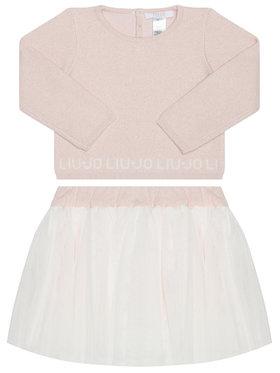 Liu Jo Liu Jo Σετ μπλουζάκι και φούστα HF0023 MA88I Ροζ Regular Fit