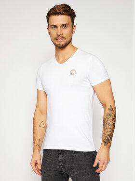 Versace Versace T-Shirt Scollo AUU01004 Biały Regular Fit