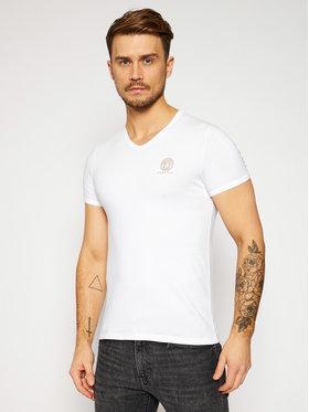 Versace Versace T-Shirt Scollo AUU01004 Weiß Regular Fit