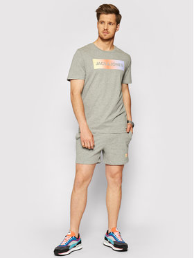 Jack&Jones Jack&Jones Completo t-shirt e pantaloncini sportvi Jacbrad 12192767 Grigio Regular Fit