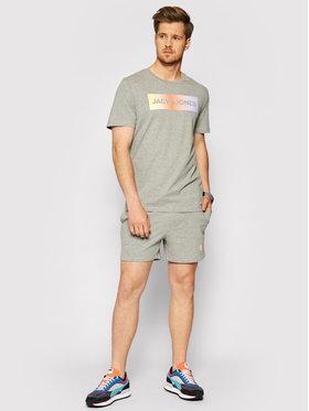 Jack&Jones Jack&Jones Komplet t-shirt i szorty sportowe Jacbrad 12192767 Szary Regular Fit