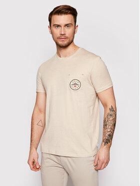 Quiksilver Quiksilver T-Shirt EQYKT04120 Béžová Regular Fit