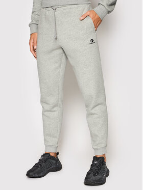 Converse Converse Spodnie dresowe Embroidered 10019925-A02 Szary Regular Fit