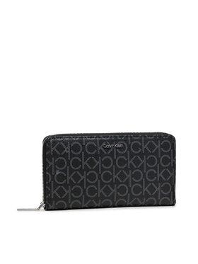 Calvin Klein Calvin Klein Große Damen Geldbörse Ck Must Z/A Wallet Xl Mono K60K608627 Schwarz