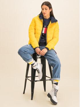 Tommy Jeans Tommy Jeans Pūkinė striukė Quilted Tape Detail DW0DW07578 Geltona Regular Fit