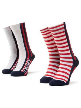 TOMMY HILFIGER TOMMY HILFIGER Σετ ψηλές κάλτσες παιδικές 2 τεμαχίων 320408001 Λευκό