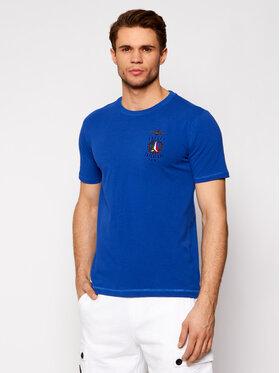 Aeronautica Militare Aeronautica Militare Marškinėliai 211TS1837J507 Mėlyna Regular Fit