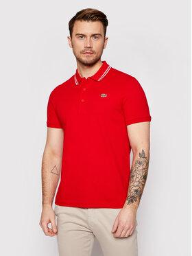 Lacoste Lacoste Тениска с яка и копчета YH1482 Червен Regular Fit