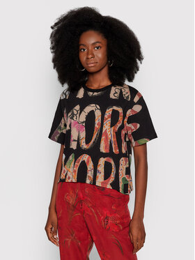 Desigual Desigual T-shirt Camelia 21WWTK97 Crna Regular Fit