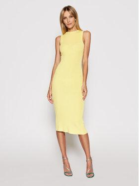 Kontatto Kontatto Sukienka dzianinowa 3M7227 Żółty Slim Fit