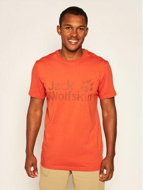 Jack Wolfskin Jack Wolfskin Tričko Brand Logo T 1807261 Oranžová Regular Fit