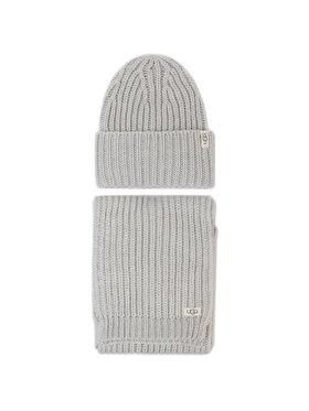 Ugg Ugg Kepurės ir šaliko komplektas K Rab Kint Hat And Scarf Set 18874 Pilka
