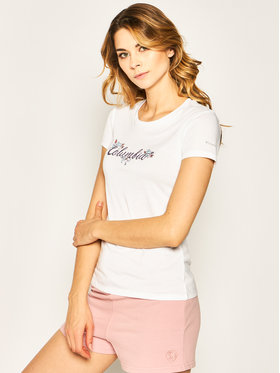 Columbia Columbia Marškinėliai Shady Grove EL1485 Balta Regular Fit