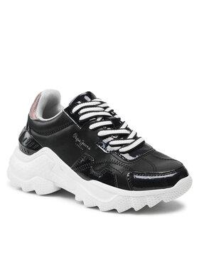 Pepe Jeans Pepe Jeans Sneakersy Eccles Croco PLS31224 Černá