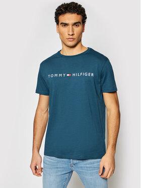 Tommy Hilfiger Tommy Hilfiger Tricou Cn Ss Tee Logo UM0UM01434 Bleumarin Regular Fit