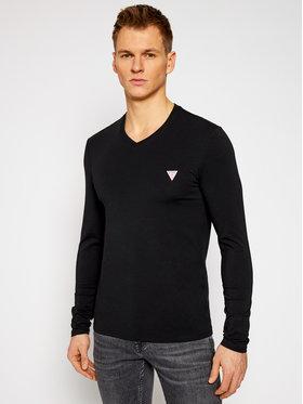 Guess Guess Marškinėliai ilgomis rankovėmis M1RI08 J1311 Juoda Super Slim Fit