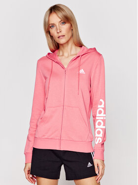 adidas adidas Mikina Essentials Logo Full-Zip GL0794 Ružová Regular Fit