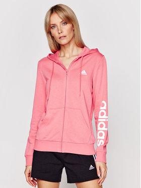 adidas adidas Μπλούζα Essentials Logo Full-Zip GL0794 Ροζ Regular Fit