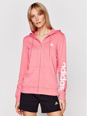 adidas adidas Суитшърт Essentials Logo Full-Zip GL0794 Розов Regular Fit