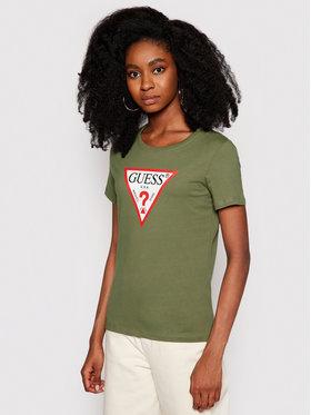Guess Guess T-Shirt Original W1RI00 I3Z11 Zielony Regular Fit