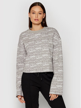 Reebok Reebok Sweatshirt Myt Printed Long Sleeve Cover-Up GV3269 Grau Oversize