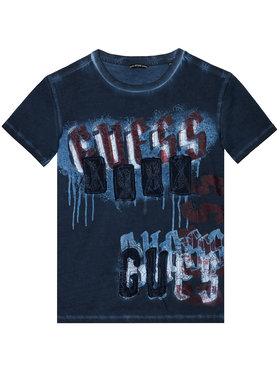 Guess Guess Marškinėliai L1RI02 K5M20 Tamsiai mėlyna Regular Fit
