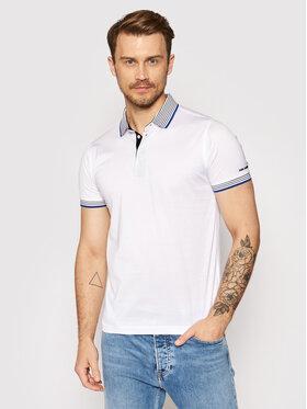 KARL LAGERFELD KARL LAGERFELD Тениска с яка и копчета 745002 511200 Бял Regular Fit