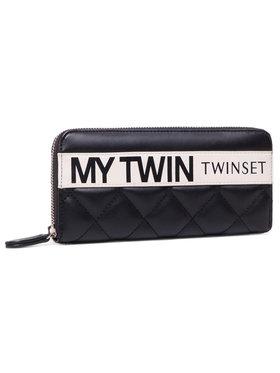 My Twin My Twin Duży Portfel Damski Zip Around 202MA7074 Czarny